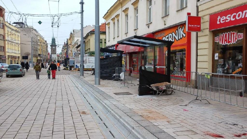 Pěší zóna – Třída Míru s napojení ulice Sladkovského Pardubice